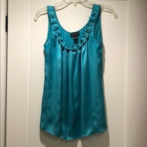 Turquoise polyester Top
